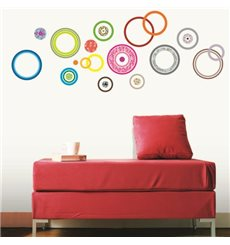 Sticker cercles design multicolores + 30 Swarovski Elements
