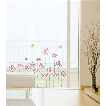Sticker fleurs en dessin - stickers fleurs & stickers muraux - fanastick.com