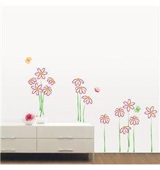 Sticker fleurs en dessin