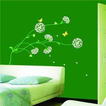 Sticker Fleurs pisenlits en coeurs - stickers fleurs & stickers muraux - fanastick.com