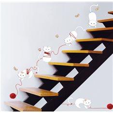 Sticker chats et pelottes de laine