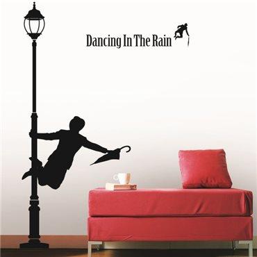 Sticker Danse sous la pluie - stickers dans la ville & stickers muraux - fanastick.com