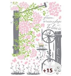 Sticker To love is to receive a glimpse...+15 cristaux Swarovski