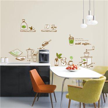 Sticker moulin à café - stickers cuisine & stickers muraux - fanastick.com