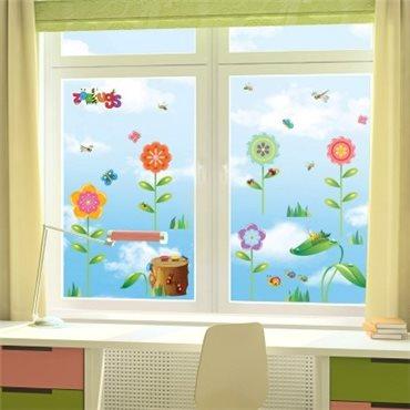 Sticker Fleurs et insectes 2 - stickers fleurs & stickers muraux - fanastick.com