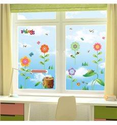 Sticker Fleurs et insectes 2