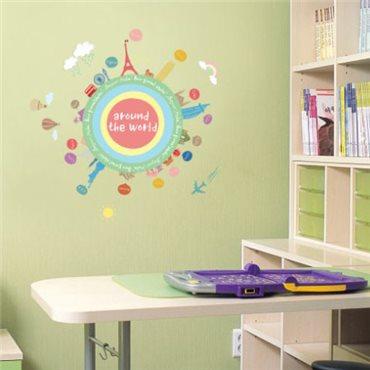 Sticker mapmonde pour enfants - stickers chambre enfant & stickers enfant - fanastick.com