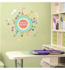 Sticker mapmonde pour enfants