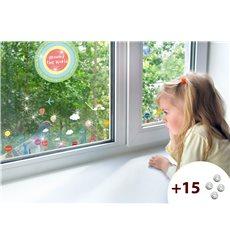 Sticker mapmonde pour enfants +15 cristaux Swarovski