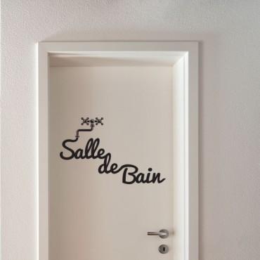 Salle De Bain - Stickers Porte & Stickers Deco - Fanastick.Com
