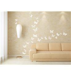 Sticker 26 stickers papillons blancs élégants