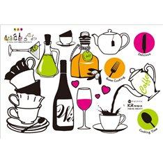 Sticker vin et thé