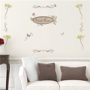 Sticker Sweet Home - stickers salon & stickers muraux - fanastick.com
