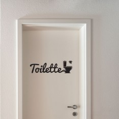 Sticker Toilette