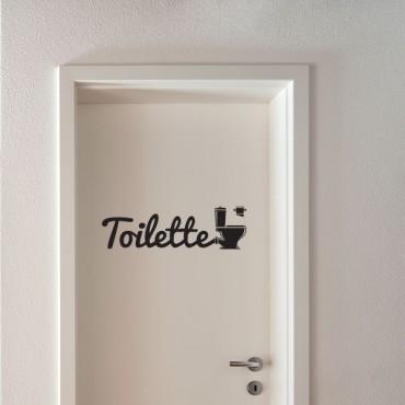 Sticker Toilette - stickers porte & stickers deco - fanastick.com