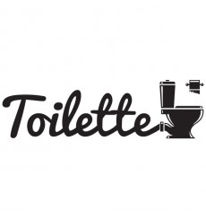 Sticker Toilette
