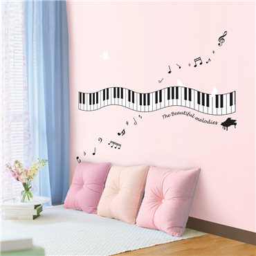 Sticker Mélodie au piano - stickers musique & stickers muraux - fanastick.com