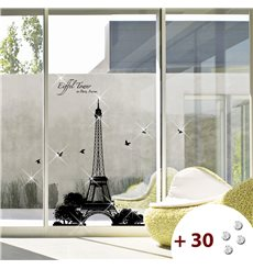 Sticker ParisTour Eiffel + 30 Swarovski Elements