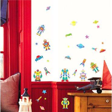 Sticker robots - stickers chambre enfant & stickers enfant - fanastick.com