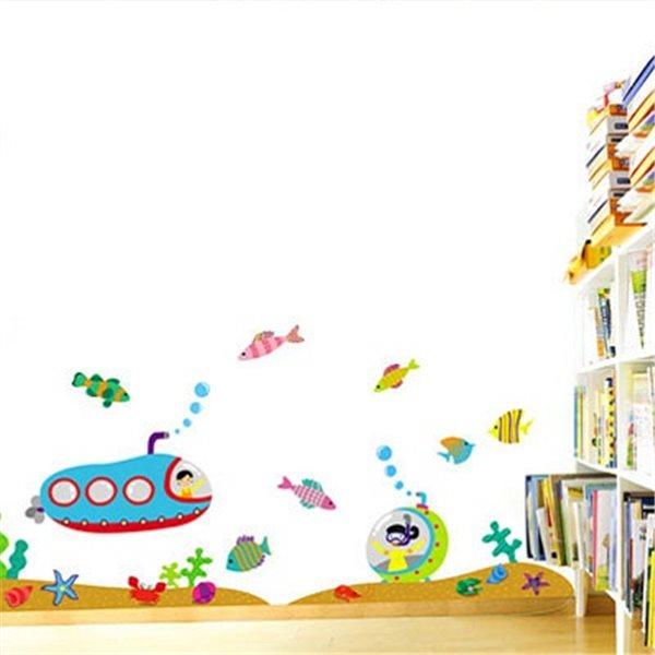 sticker sous marin chambre enfant stickers chambre. Black Bedroom Furniture Sets. Home Design Ideas