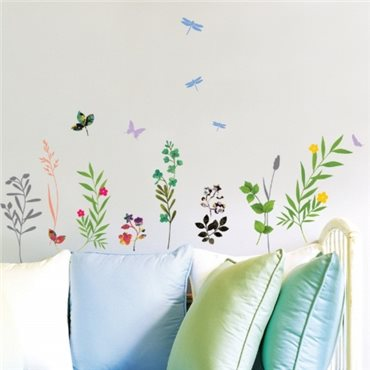 Sticker  Fleurs, herbes et insectes - stickers fleurs & stickers muraux - fanastick.com