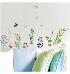 Sticker  Fleurs, herbes et insectes
