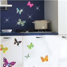 Sticker papillons multicolores 2 + 30 Swarovski Elements