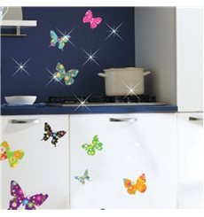 Sticker papillons multicolores 2 + 30 Swarovski Elements