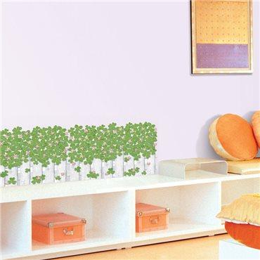 Sticker haie de trèfles - stickers fleurs & stickers muraux - fanastick.com