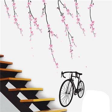 Sticker fleurs et vélo - stickers arbre & stickers muraux - fanastick.com