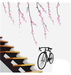 Sticker fleurs et vélo