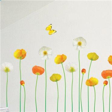 Sticker fleurs de jardin fines et élégantes - stickers fleurs & stickers muraux - fanastick.com