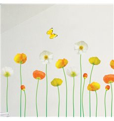 Sticker fleurs de jardin fines et élégantes