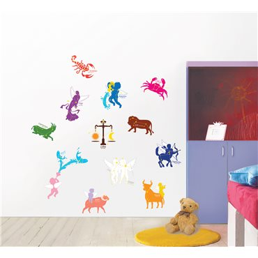 Sticker signes du Zodiac - stickers chambre enfant & stickers enfant - fanastick.com