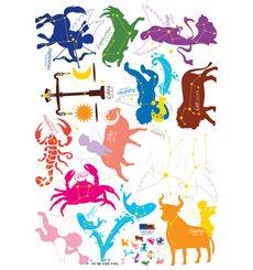 Sticker signes du Zodiac