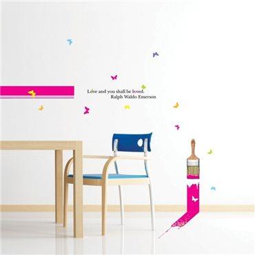 Sticker Peinture et Love - stickers amour & stickers muraux - fanastick.com
