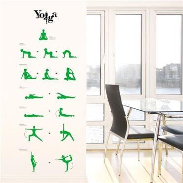 Sticker Cours de Yoga - stickers chambre & stickers muraux - fanastick.com