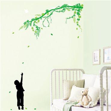 Sticker Branche d'arbre et oiseaux - stickers arbre & stickers muraux - fanastick.com