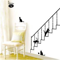 Sticker Chats et escaliers