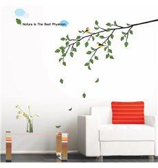 Sticker arbre et oiseau