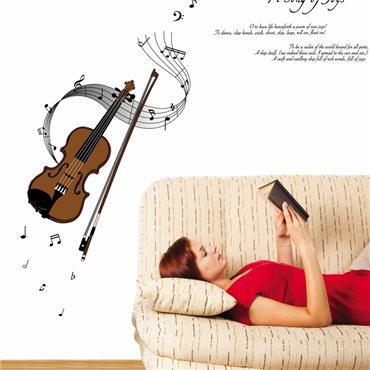 Sticker violon - stickers salon & stickers muraux - fanastick.com