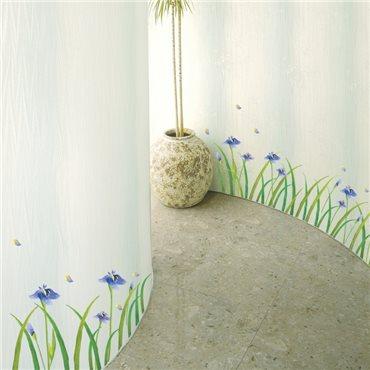 Sticker fleurs Iris mauves - stickers fleurs & stickers muraux - fanastick.com