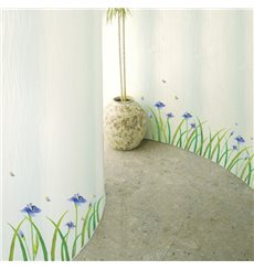 Sticker fleurs Iris mauves
