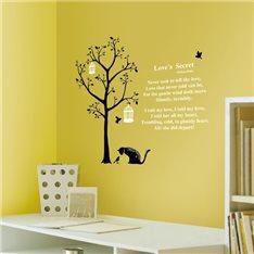 Sticker arbre et chats