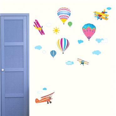 Sticker Montgolfières - stickers chambre enfant & stickers enfant - fanastick.com