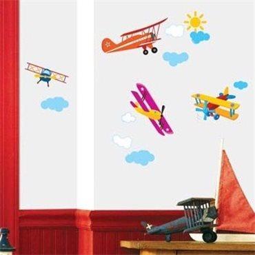 Sticker avions chambre enfant - stickers chambre enfant & stickers enfant - fanastick.com