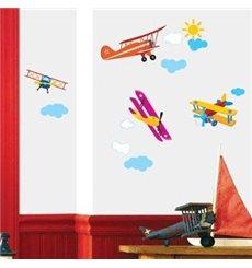 Sticker avions chambre enfant