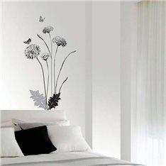 Sticker fleurs chrysanthèmes