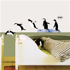Sticker famille de Pingouins