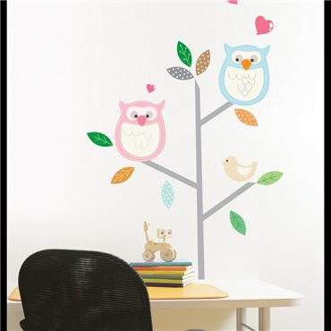 Sticker hiboux - stickers chambre enfant & stickers enfant - fanastick.com